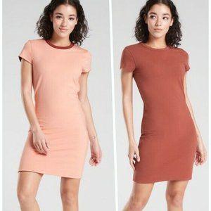 Athleta Destina Reversible Dress M Brown Peach NEW